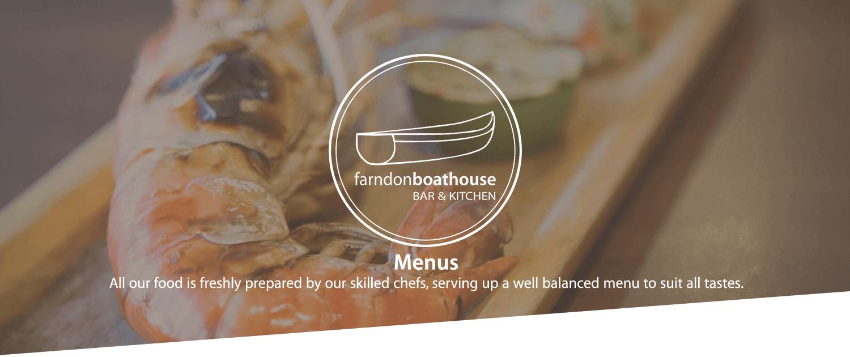 Menu Farndon Boathouse