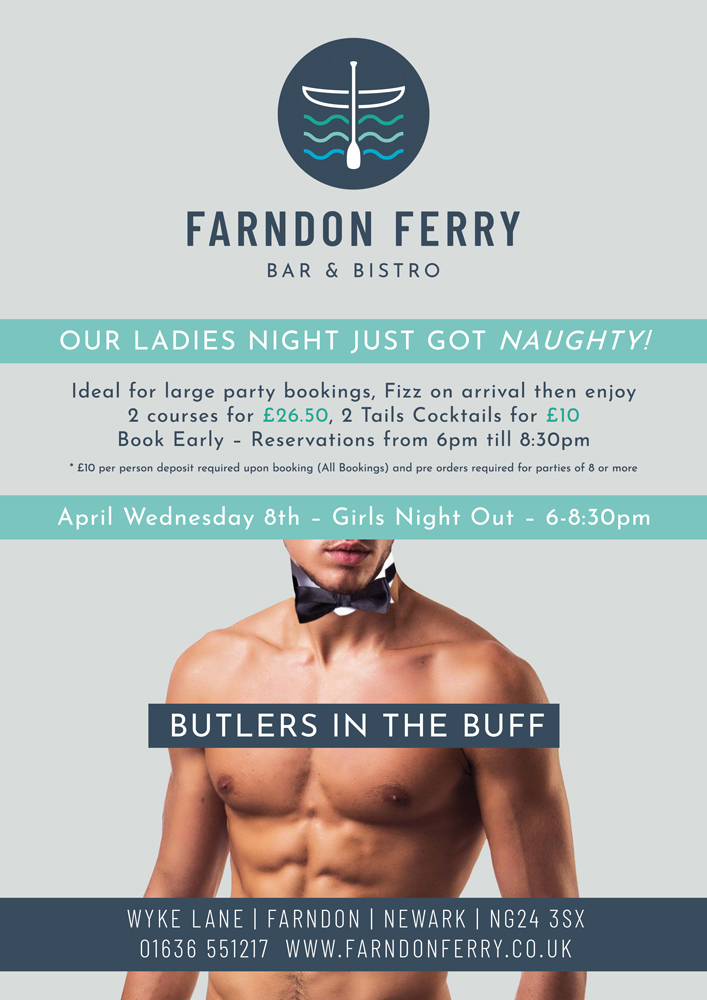 Wednesday 8th April Butlers in the Buff